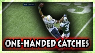 Football One Handed Catches (NFL, NCAA, CFL)