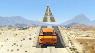 STUNT JUMPS RACE (GTA 5 Funny Moments)