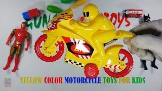 Yellow Color Motorcycle Toys For Kids Playing - Motorcycle Toys Colored For Kids