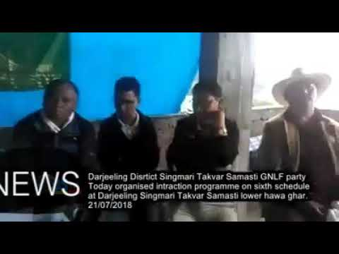 GNLF PARTY ORGANISED INTRACTION PROGRAMME ON SIX SCHEDULE AT DARJEELING