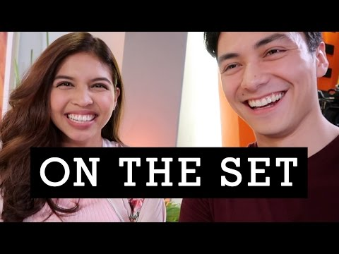 CRASHING the taping of Destined to be Yours with JANICE DE BELEN, ALDEN RICHARDS & MAINE MENDOZA)