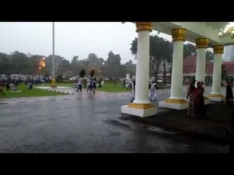 Panembahan RonggoSukowati-Daul PUTRA SHINHAJI PMK feat Marcing Band RGS PMK di Grahadi Surabaya