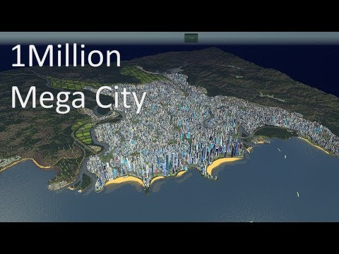Cities Skylines - 1 Million Population Mega City #cinematic video (4K)