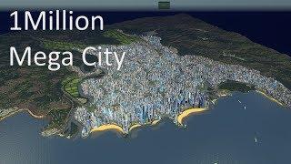 Cities Skylines - 1 Million Population Mega City #cinematic video (4K)