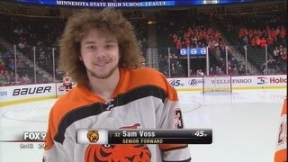 Hockey hair a tradition at Minnesota State High School Boy's Hockey Tournament
