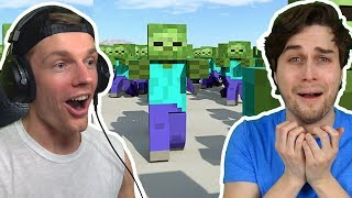 ENZO EN WOUTER VS 14 ZOMBIES IN MINECRAFT! 😱