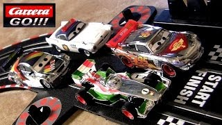 Cars 2 Carrera Go! Slot Racing Track Silver Lightning McQueen Max Schnell Disney Racer Speeders