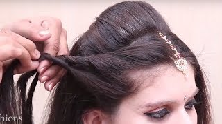 Perfect Bridal hairstyles for beginners | indian wedding bridal hairstyles || hair style girl | juda
