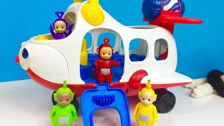 TELETUBBIES TOYS Airplane Ride and Packing Suitcase For VACATION!