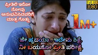 Kannada Sad Song | Hey Hrudaya Idenu Sikshe | WhatsApp Status Video's |