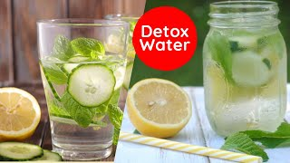 How to Make Detox Water In Hindi | Summer Infused water to lose belly fat, Cleanse & Debloat | Hindi