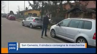 San Genesio, il sindaco porta le mascherine a tutti i cittadini