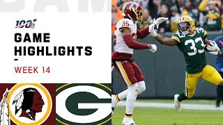 Redskins vs. Packers Week 14 Highlights | NFL 2019