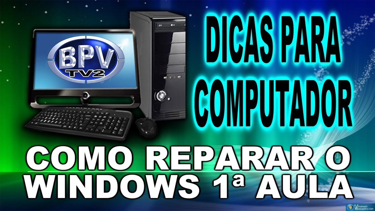 como reparar windows 7
