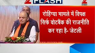 Opposition is doing vote-bank politics on Rohingya issue, says FM Arun Jaitley