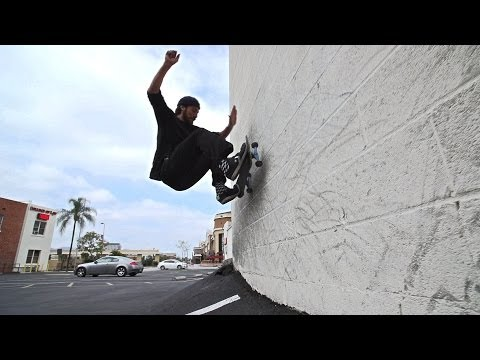 Skateboarding Slow Motion Test #1 Eli Reed Wallrides