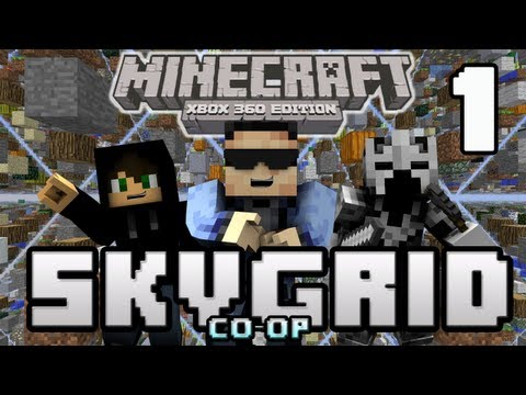 Minecraft (Xbox 360) SkyGrid Survival Ep1 w/ Presto & Eskimo! (Survival Map) [ TU8]