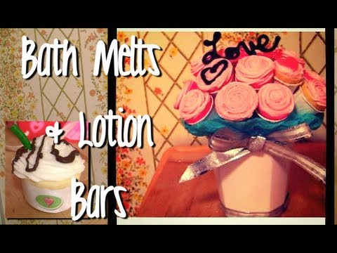 Make Lotion Bars/Bath Melts for Skin & Hair (Gift Ideas DIY)