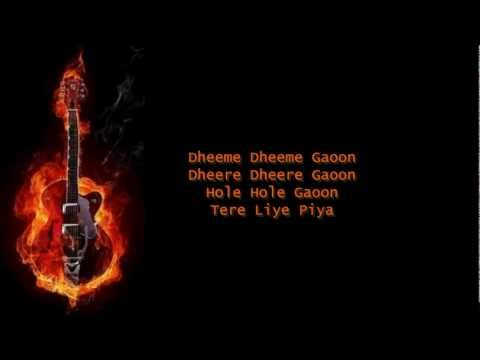Dheeme Dheeme Gaoon-Zubeidaa-Karaoke by Yakub