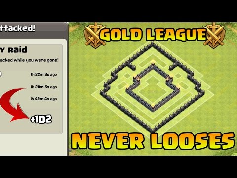 Clash of Clans - Town Hall 5 Defense (CoC Th5) Trophy / War Base   BEST TH5 Defense Strategy