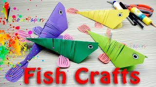 #Fish #Crafts #Kids  How to Make a 3D Paper Fish for Kids - DIY Origami Fish Craft Easy