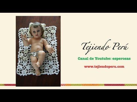 Mantita y almohada en crochet para el Niño Jesús (Parte 1)