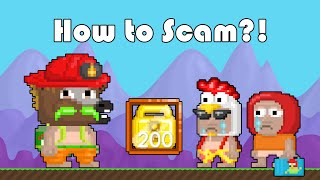 Growtopia | How to Scam?!