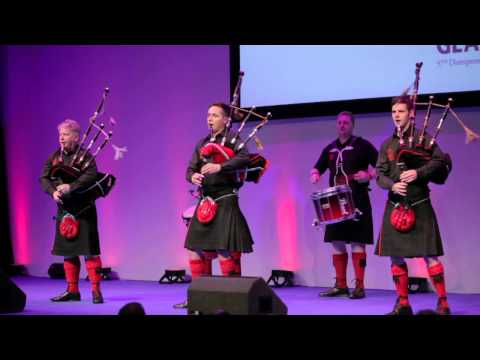 The Red Hot Chilli Pipers Performing Live at the Distripress 57 Congress, Glasgow 2012