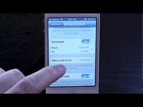 CNET How To - How to set up Do Not Disturb on iOS 6