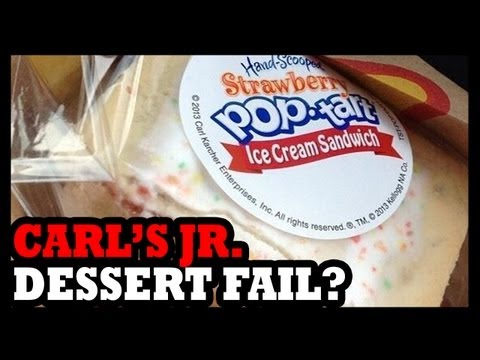 Pop Tart Ice Cream Sandwiches from Carl's Jr!? - Food Feeder Video Download