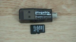 Plugable USB2-OTGTF Phone   Laptop   Tablet MicroSD Card Reader (Micro USB OTG)