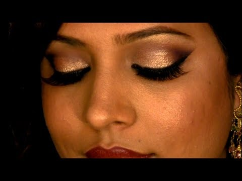 Glamorous & Sexy Indian pakistani Bridal Registry Reception Bollywood Makeup Look video