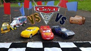 🏰 Disney Cars 3 🚗 Lightning Mcqueen vs 🚙 Jackson Storm vs 🏎 Cruz Ramirez  Race and Crashes