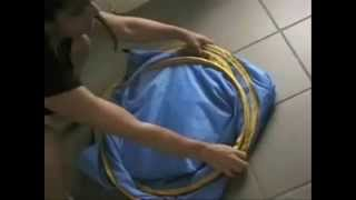 Easy folding a pop up tent or Spray Tanning Tent how to!