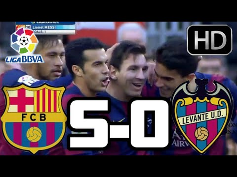 Barcelona vs Levante 2015| RESUMEN COMPLETO Y GOLES HD| LIGA BBVA| 15-02-2015