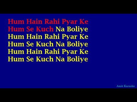 Hum Hain Rahi Pyar Ke - Kishore Kumar Hindi Full Karaoke with...