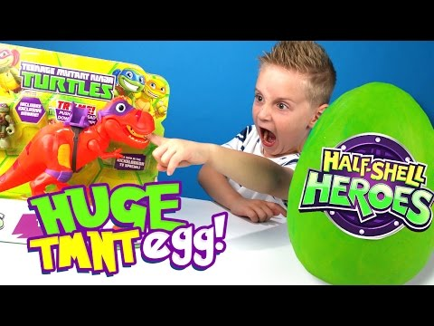 Ninja Turtles Toys Kinder Play-Doh Surprise Egg & Dinosaurs Half-Shell Heroes Unboxing by KID CITY