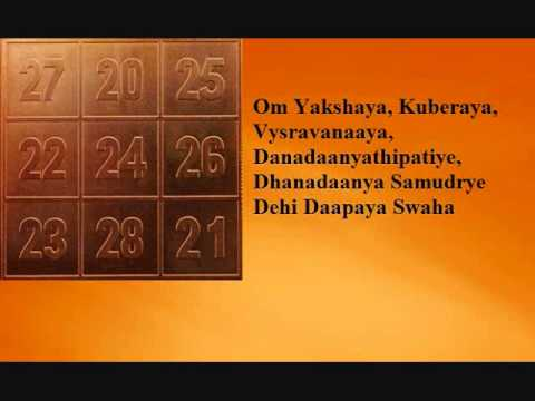 Sri Kubera Mantra (wealth)  - Youtube video