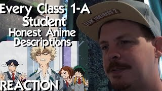 Every Class 1-A Student in Hero Academia - Honest Anime Descriptions REACTION