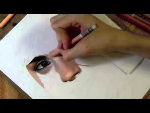 Видео как нарисовать лицо человека боком