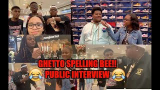 GHETTO SPELLING BEE | COLUMBUS GA EDITION | PUBLIC INTERVIEW | VLOGSMAS EP.2