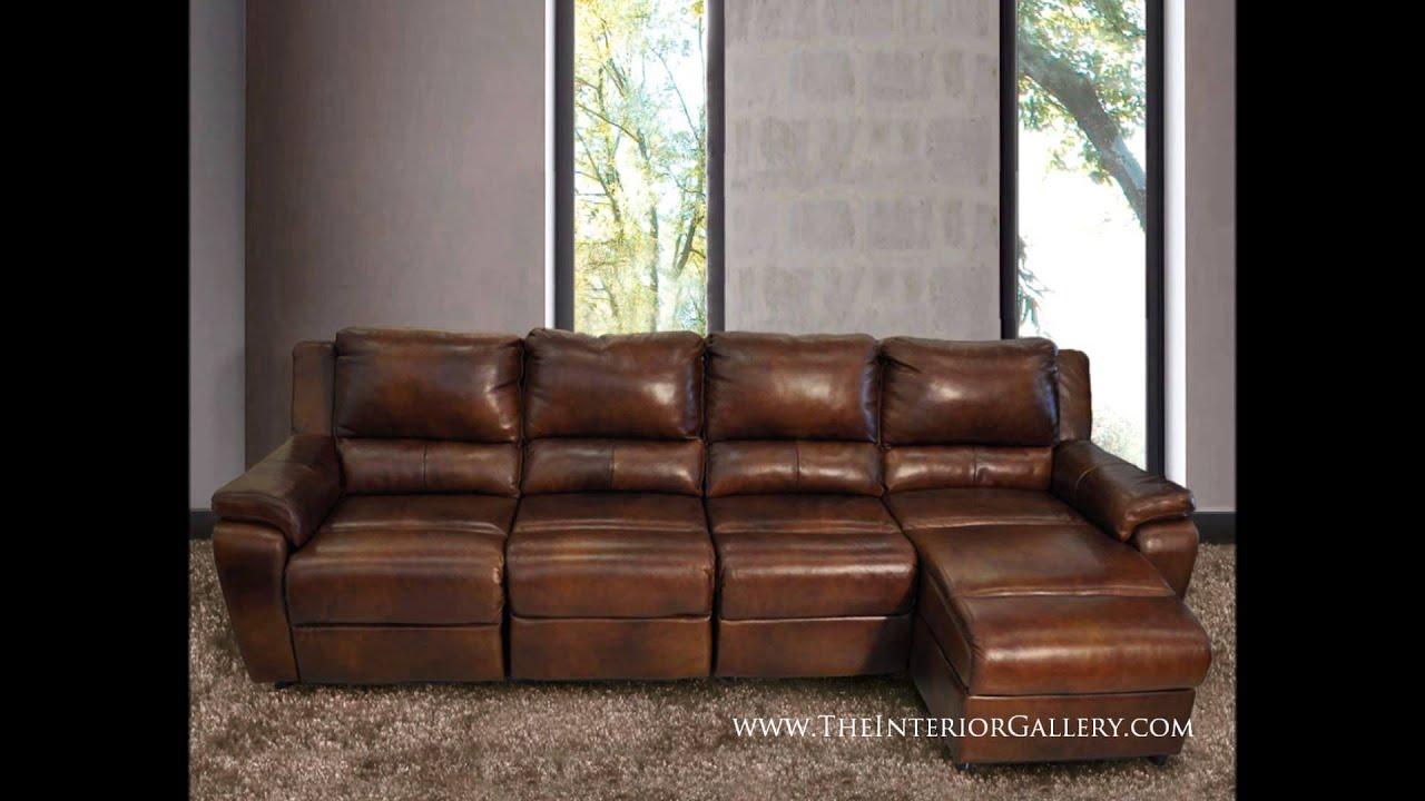 Modern Leather Sofa Set Genuine 100% leather - YouTube