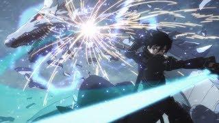 Kirito vs blue dragon saves lizbeth