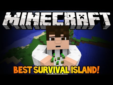 Minecraft 1.5.2 Seed Spotlight - EPIC SURVIVAL ISLAND!