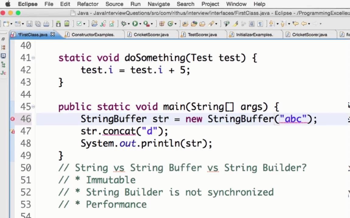 Java stringbuffer vs string