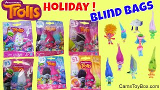 Holiday Trolls Blind Bags Opening Series 1 2 3 4 5 6 Surprise Toys Review Dreamworks