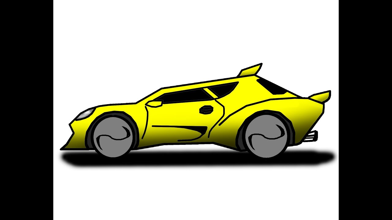 How To Draw Cartoon Quot Renegade Car Quot The Ez Way Youtube