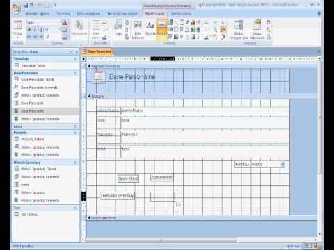 Microsoft Office Access 2007 - Aplikacja Z Bazy Danych