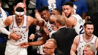 Dudley, Butler Ejected! Embiid 31 Pts 6 Blks Game 4! 2019 NBA Playoffs