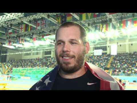Ryan Whiting USA wins gold in shot put at World Indoors 2012